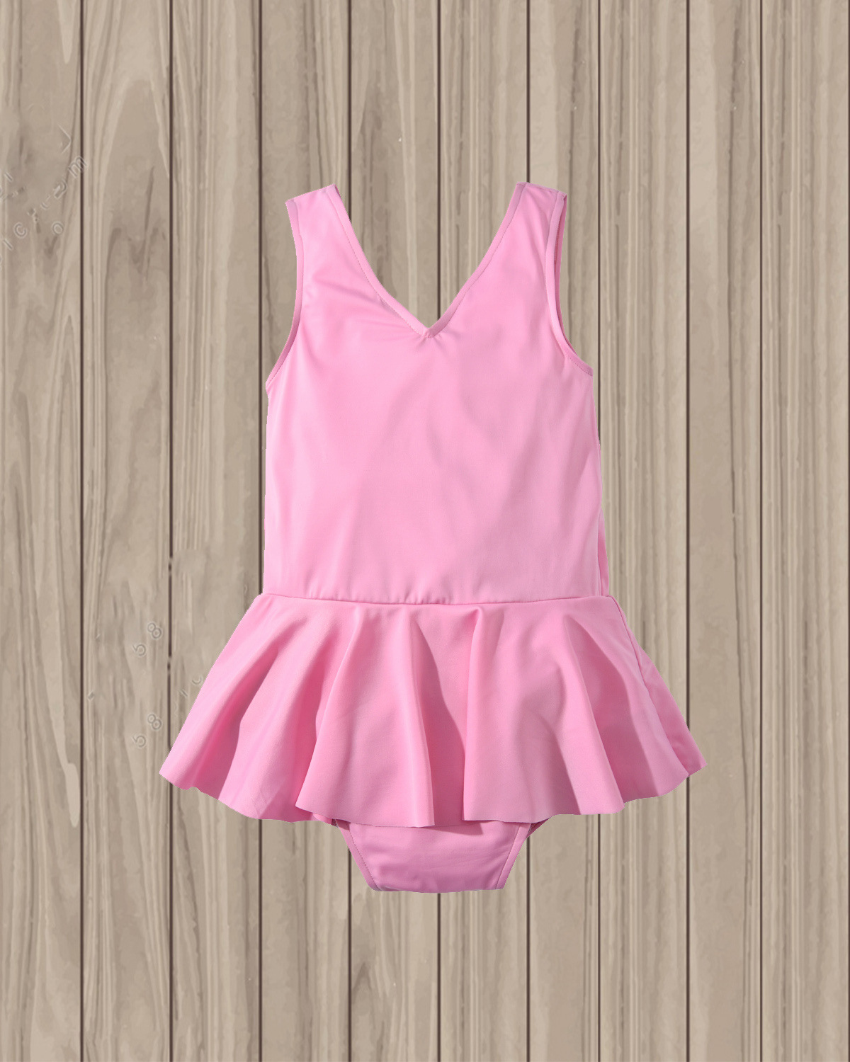 19 Years New Style KID'S Swimwear Europe And America Girls Solid Color Small Skirt Tour Bathing Suit GIRL'S Bow One-piece Swimwe