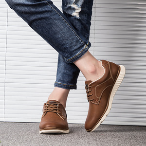 Image 5 - Misalwa Classic Comfort Mens Leather Shoe Brand Leisure Stylish Casual Flat Shoes Work Office Business Keep Warm Men Sneakers