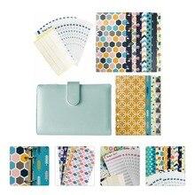 1 Set Budget Envelopes Cash Envelopes System Budget Sheets Leather Cover