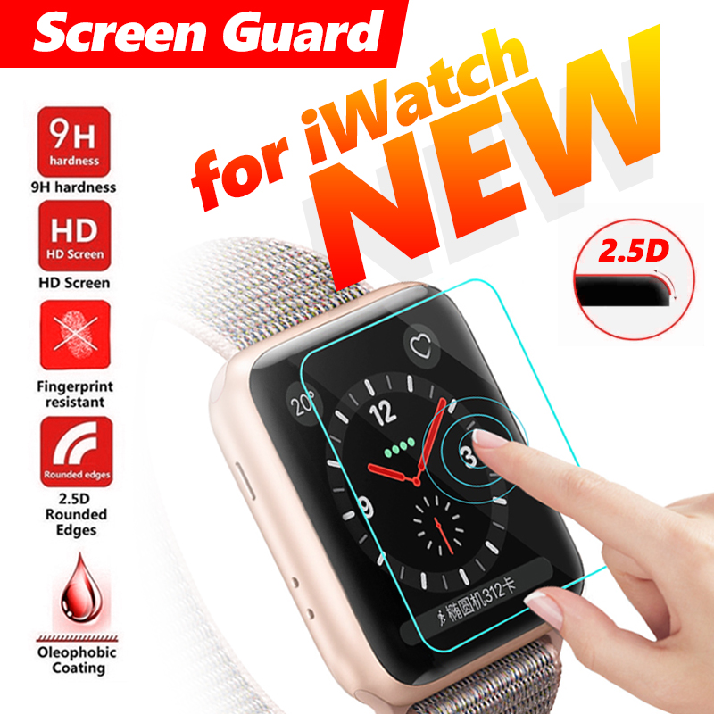 Screen Protector Film For IWatch 4 Clear Tempered Glass Explosion Proof Hard Protective Screen Guard For Apple Smart Watch
