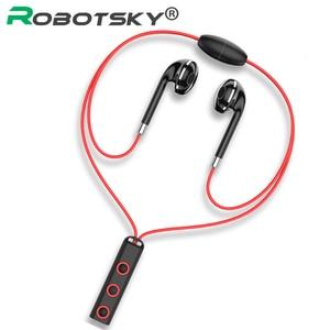 Image 1 - BT313 Bluetooth Oortelefoon Magnetische Hoofdtelefoon Sport Draadloze Opknoping Hals Koptelefoon Met Mi Crophone Voor Xiao Mi Rode Mi Huawei P30