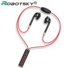 BT313 Bluetooth イヤホン磁気ヘッドホンスポーツワイヤレスぶら下げネックイヤホンと mi crophone シャオ mi 赤 mi Huawei 社 P30