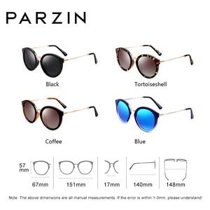 Image 2 - PARZIN lunettes de soleil rondes pour femmes, marque de luxe rétro, verres de soleil polarisés de haute qualité pour la conduite