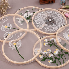 European style mesh DIY embroidery flower painting cross stitch kit embroidery kit Diy beginner embroidery kreuzstich