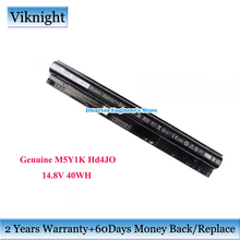 цены Genuine HD4J0 Battery M5Y1K For Dell Inspiron 14 15 17 Series GXVJ3 K185W N5558 Vostro 3468 14.8v 40Wh Latitude 3460 Battery