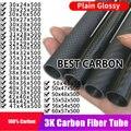Бесплатная доставка  30  31  32  34  35  36  38  40  42  44  47  50  55  60 мм  500 мм  длина  высокое качество  гладкое  глянцевое  3K  карбоновое волокно
