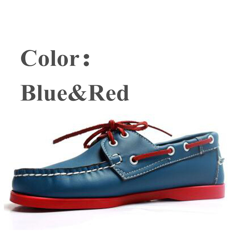 Driving shoes Men Leather Boat Shoes Lace Up Fashion Flat Creepers Plus 46Moccasins Shoes Women Footwear Zapatos Hombre Loafers