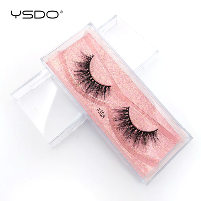 YSDO 1 Pair 3D Mink Lashes Makeup Wispy Fluffy Mink Eyelashes Natural Long False Eyelashes Extension Fake Lashes Maquillaje 39A 5