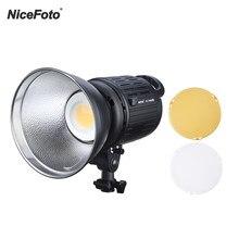 Nicefoto HC-1000B ii fotografia led lâmpada de luz de vídeo 100w display lcd 3200k/5600k cri95 + app controle remoto com filtros de cor
