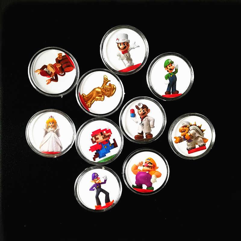 10Pcs Super Mario Odyssey NFC เกมการ์ด Amiibo Ntag215 คอลเลกชันเหรียญพิมพ์สติกเกอร์แท็กสำหรับ NS Switch Fast การจัดส่ง
