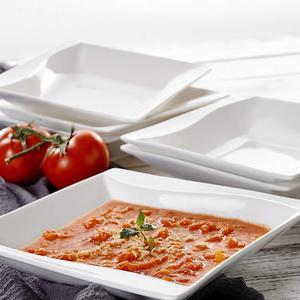 Image 4 - MALACASA Carina, assiettes à dîner en céramique, cuisine profonde, 6 pièces, assiettes à soupe, assiettes à fruits pour la salade, 6 pièces, 8 pouces, céramique, crème