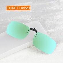 Toketorism Stylish Rimless clip on polarized sunglasses flip up eyewear women and men 548 stylish rhinestone and cloud shape embellished sunglasses for women
