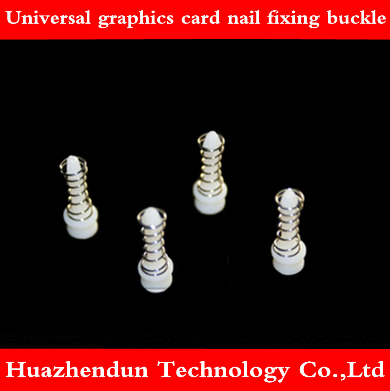 Universal graphics card plastic nail fixing buckle spring nail plastic rivet heat sink mounting buckle 200 pieces black image