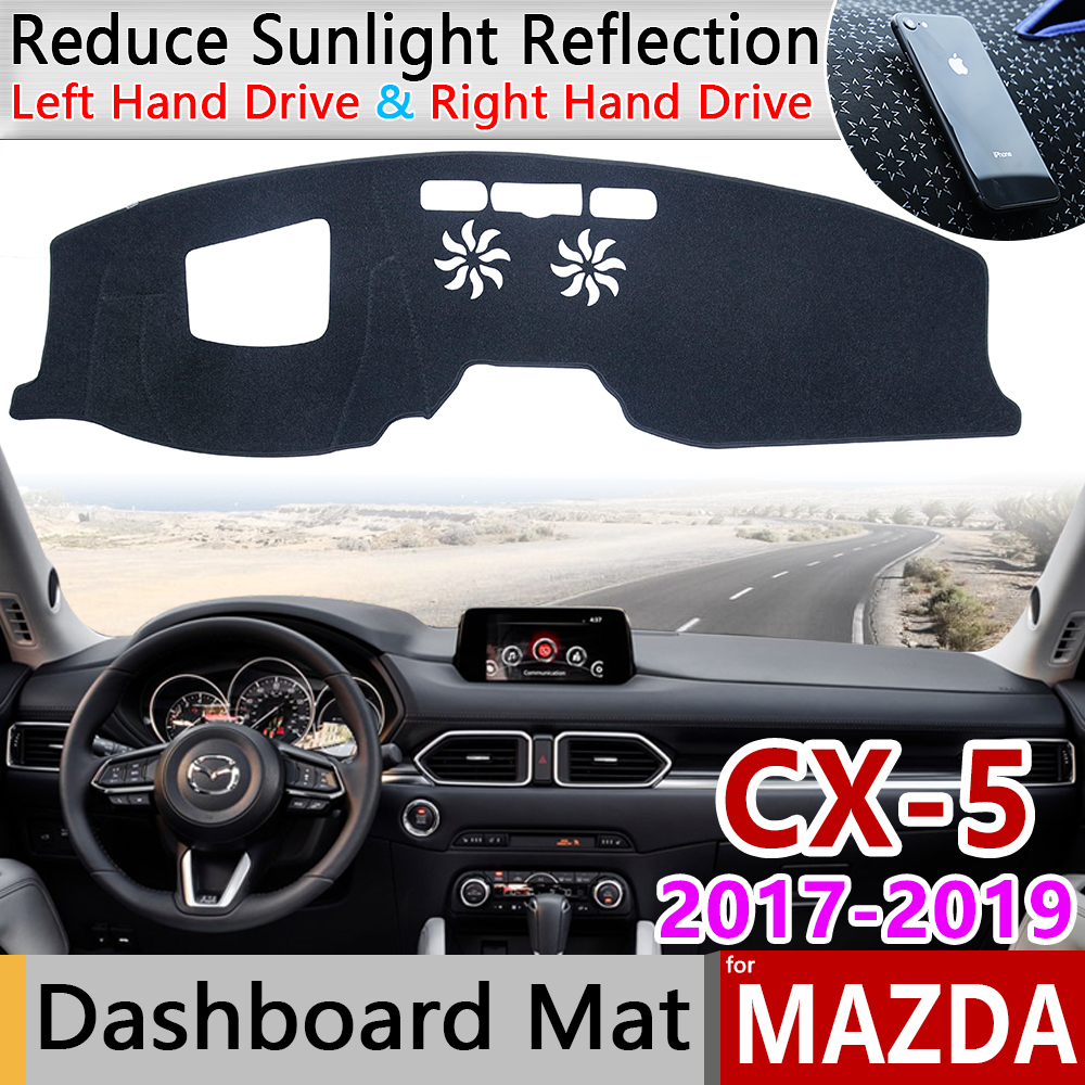 for Mazda CX-5 2017 2018 2019 MK2 KF CX5 CX 5 Anti-Slip Mat Dashboard Cover Pad Sunshade Dashmat Protect Carpet Car Accessories