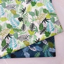Algodão estofando tecido impressão folha pano para diy costura folha de cama vestido que faz a tela de algodão