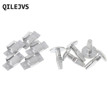 QILEJVS 5 Pairs Engine Fitting Clips Mounting Bolt Under Cover For Peugeot 206 207 406 407 806 807