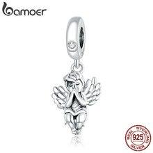 Bamoer 925 argent Sterling petit ange breloque en métal faisant breloque ajustement Original Bracelet Bijoux à bricoler soi-même perles en argent Bijoux SCC1686