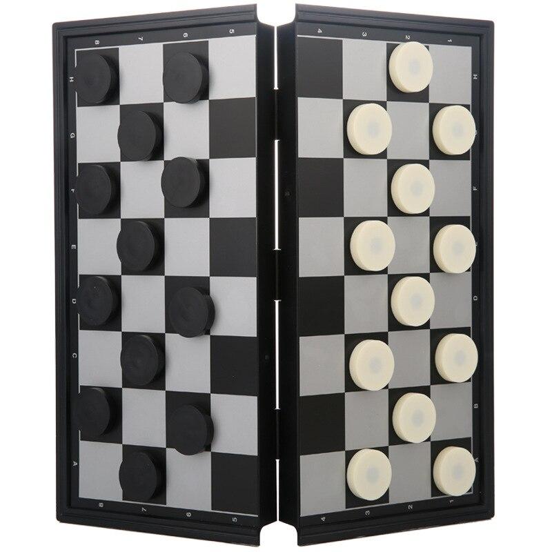 Международные шашки для детей, студентов, западные 100 решетки для взрослых, большие размеры, ci xing qi zi, Складные портативные Обучающие шашки