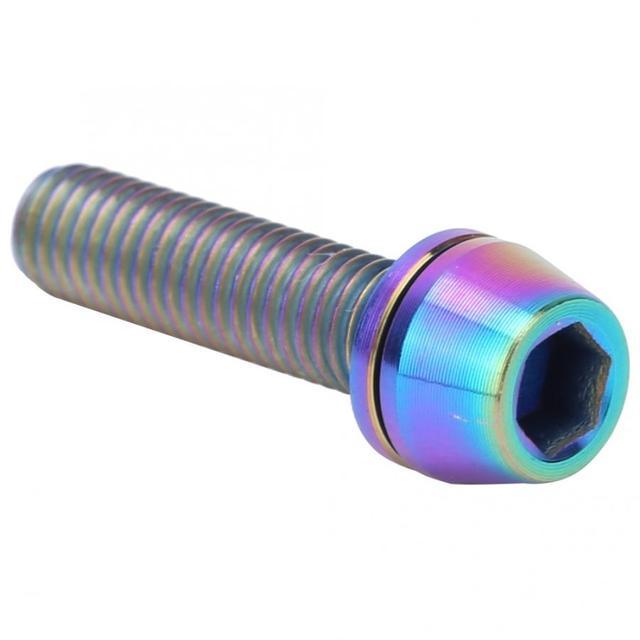 3 uds M5x20mm/M6x20mm tornillos de vástago de bicicleta aleación de titanio elevador de vástago de manillar tornillo de fijación de abrazadera de freno de disco de bicicleta