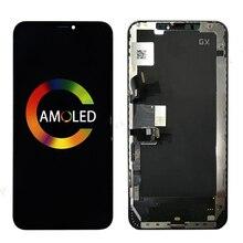 Pantalla táctil suave GX para iPhone XS, montaje de LCD, Sensor de digitalizador, reemplazo de reparación, sin píxeles muertos, lcd, 5 uds.