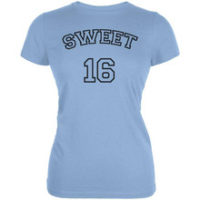 Milestone Birthday Athletic Sweet Sixteen 16 Juniors Soft T Shirt Custom Print Tee Shirt(China)