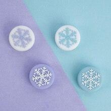 חמוד פתית שלג ילדה שלג פרח אגודל מקל אחיזת כובע ג ויסטיק כיסוי עבור Nintend מתג NS לייט NS JoyCon בקר Gamepad מקרה