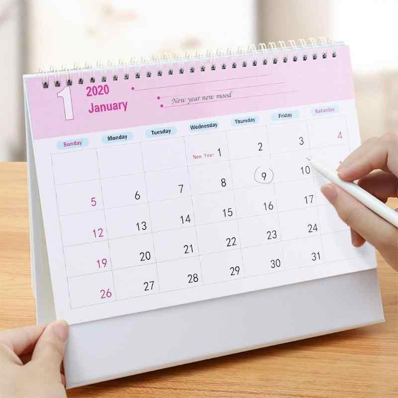 Bricolage Mandala forme spéciale diamant peinture 2020 nouvel an Mini bureau calendrier diamant broderie calendrier nouvel an cadeau