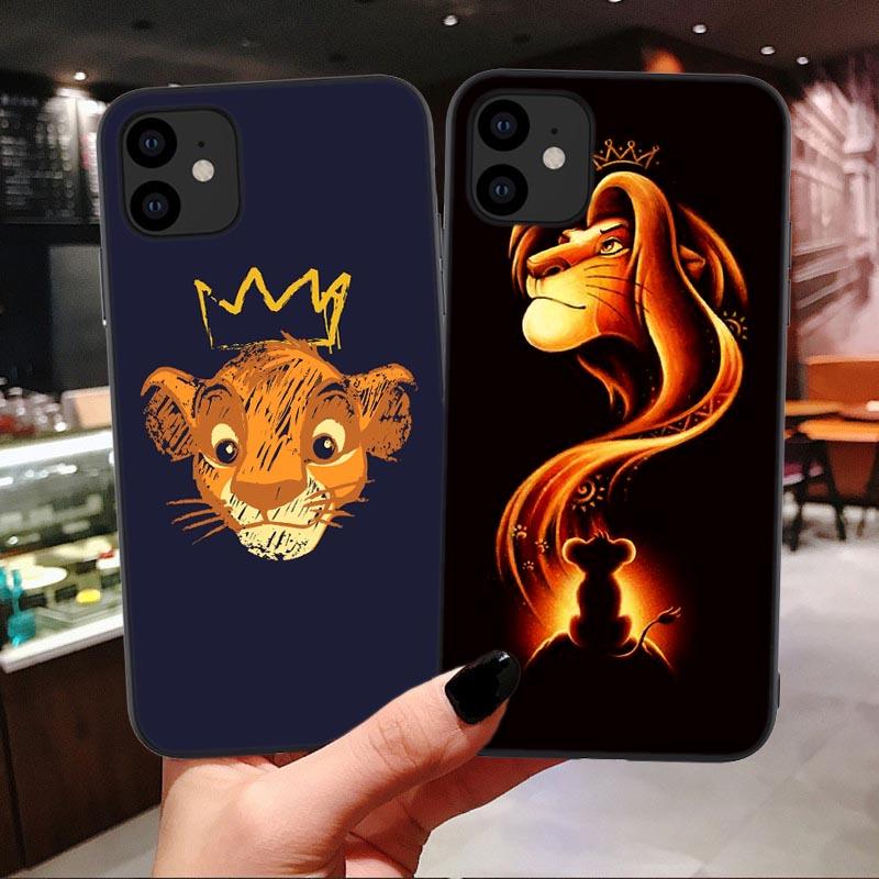 Coque iPhone X et iPhone XS simba nala disney le roi lion