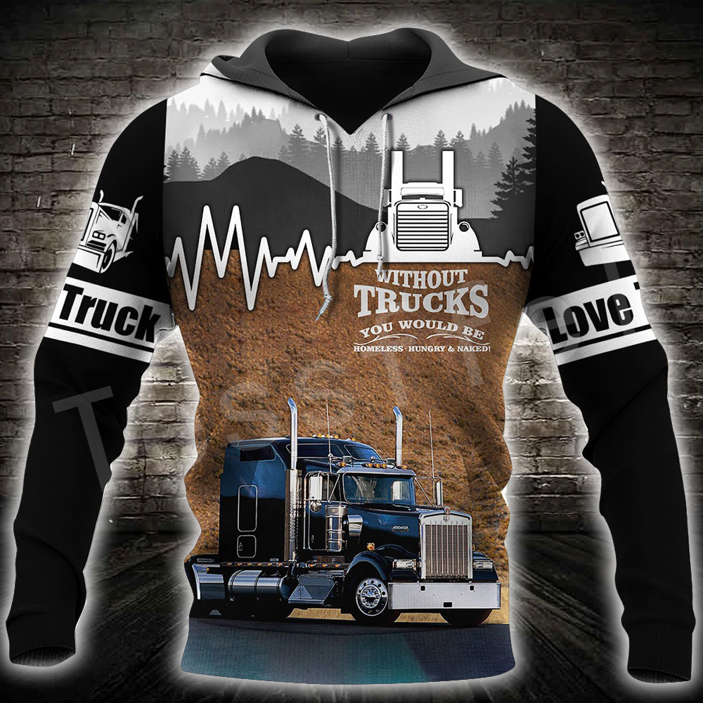 Пуловер для водителя грузовика спортивный костюм Модный повседневный
