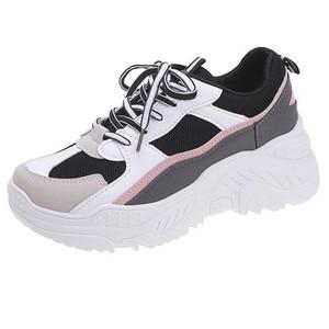 Image 1 - Scarpe da corsa in PU per Sneakers Donna Scarpe Donna traspirante feminino Zapatillas Mujer femme 2019 Deportivas Zapatos