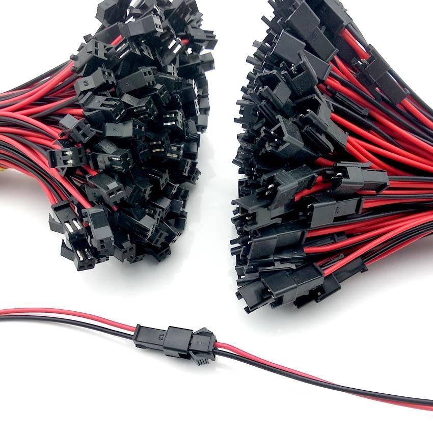 10 pares 15 centímetros Conector Plugue Macho Para Fêmea Conectores de Fios de Cabo para Tiras LEVOU Driver Da Lâmpada