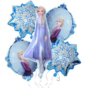 Frozen 2 Cartoon Figures Aluminum Balloon Olaf Elsa Princess Aisha Balloons Anime Theme Kids Birthday Party Decorations Layout