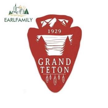 EARLFAMILY 13cm x 9.2cm for Grand Teton National Park Sign Decal Funny Car Stickers Vinyl JDM Bumper Trunk Truck Graphics Fine image