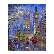 City Night DIY Painting By Numbers Kit For Adult Unique Gift Draw On Canvas Coloring By Numbers Acrylic Oil Painting Wall Art Pictures Modern Home Decor(China)