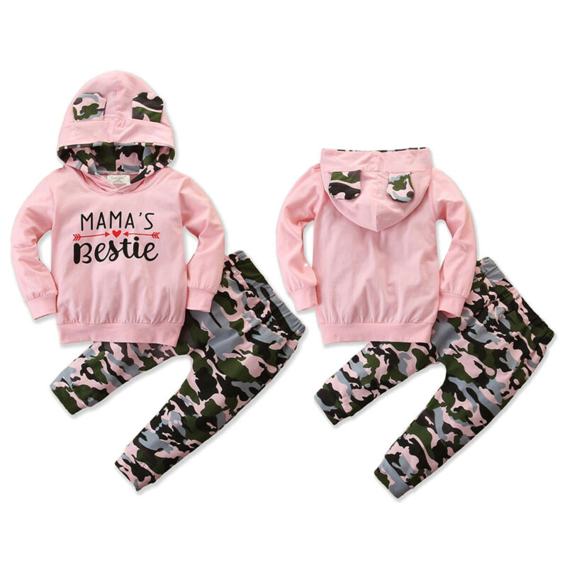 2020 New Fashion Toddler Kid Baby Girl Hoodie Top Long Pants Legging Outfit Clothes Tracksuit