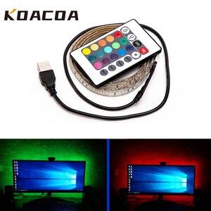 5V USB LED Strip light RGB 2835SMD Flexible LED light Tape Ribbon 1M 2M 3M 4M 5M HDTV TV Desktop Screen Backlight Bias lighting(China)