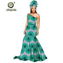 2019 африканские длинные платья макси для женщин платье + головной