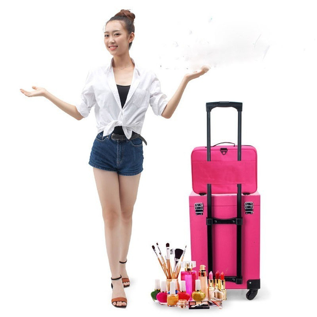 2020 New Professional Makeup Organizer Travel Beauty Cosmetic Case For Make Up Bolso Mujer Storage Bag Nail Tool Box Suitcases