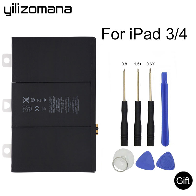 YILIZOMANA Original Tablet Battery for iPad 3/4 rd 11560mAh A1403 A1416 A1430 A1433 A1459 A1460 A1389 replacement battery +Tools|Tablet Batteries & Backup Power| |  - title=