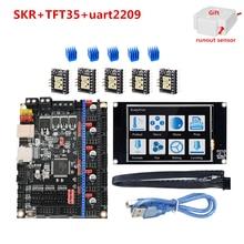 Skr V1.3 Moederbord + TFT35 Touch Screen Lcd Unit + Stepper Driver Tmc 2208 2209 2130 Drv8825 4988 Voor Creality upgrade Eenheden