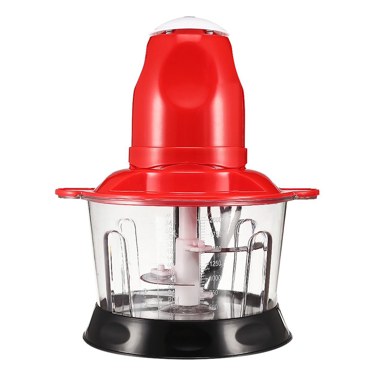 2L Red Multifunctional Household Electric Food Meat Grinder Chopper Blen-der Cutter Kitchen Processor Mincer 200w