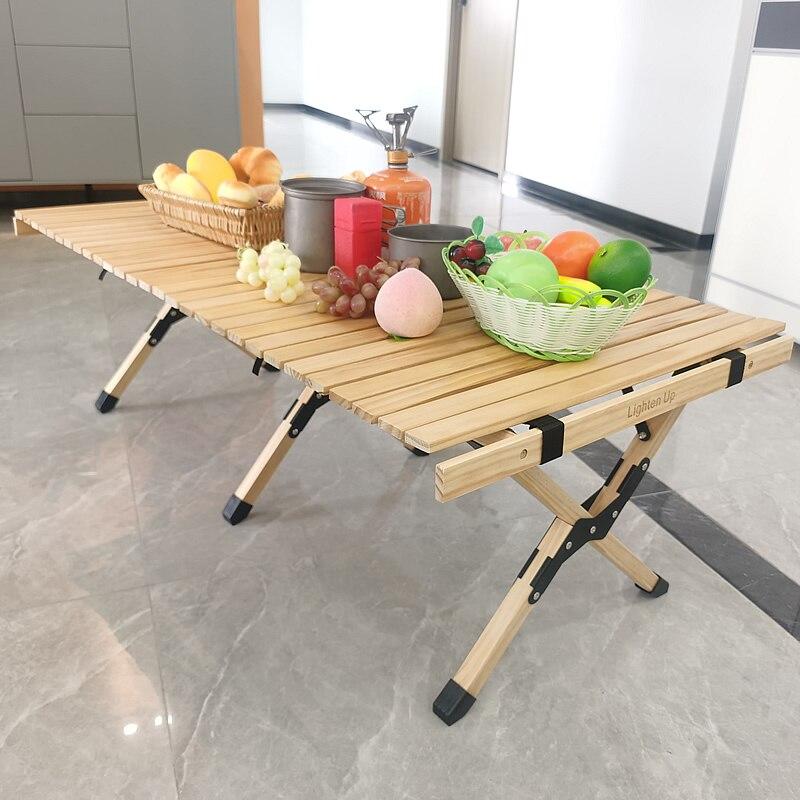 Lighten Up Folding Table Naturehike Camping Desk Egg-Roll Picnic 120cm About-7.5kg Beach-Wood
