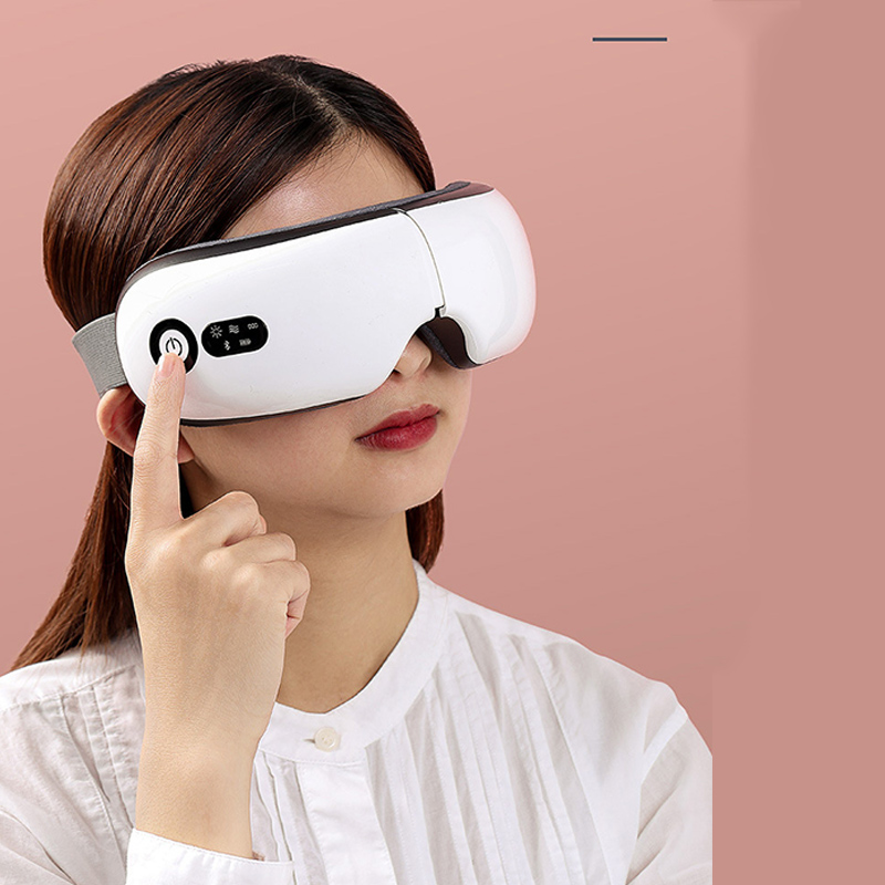 Electric Vibration Bluetooth Eye Massager J045 Fatigue Reliever Relieve Vibration Eye Cover Pressure Massage Eyewear Glasses