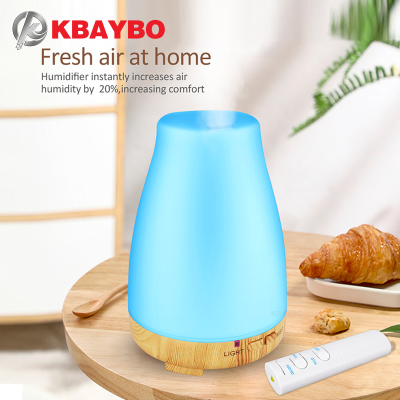 KBAYBO Essential Oil Diffuser 200ml Aroma Essential Oil Cool Mist Humidifier 7 Colors LED Light Changing For Home Office Baby