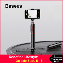 Baseus Bluetooth Selfie Stick Portable Handheld Smart Phone Camera Tripod with Wireless Remote For iPhone Samsung Huawei Android original huawei honor selfie stick tripod portable bluetooth3 0 monopod for ios android huawei smart phone
