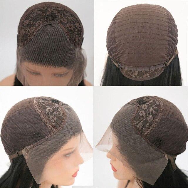 Charisma-perruque Lace Front Wig ondulée verte   Perruques synthétiques Free Part avec Baby Hair, perruques résistantes à la chaleur pour femmes