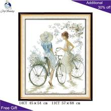 Joy Sunday point de croix pour bicyclette, fille point de croix RA056 14CT(China)