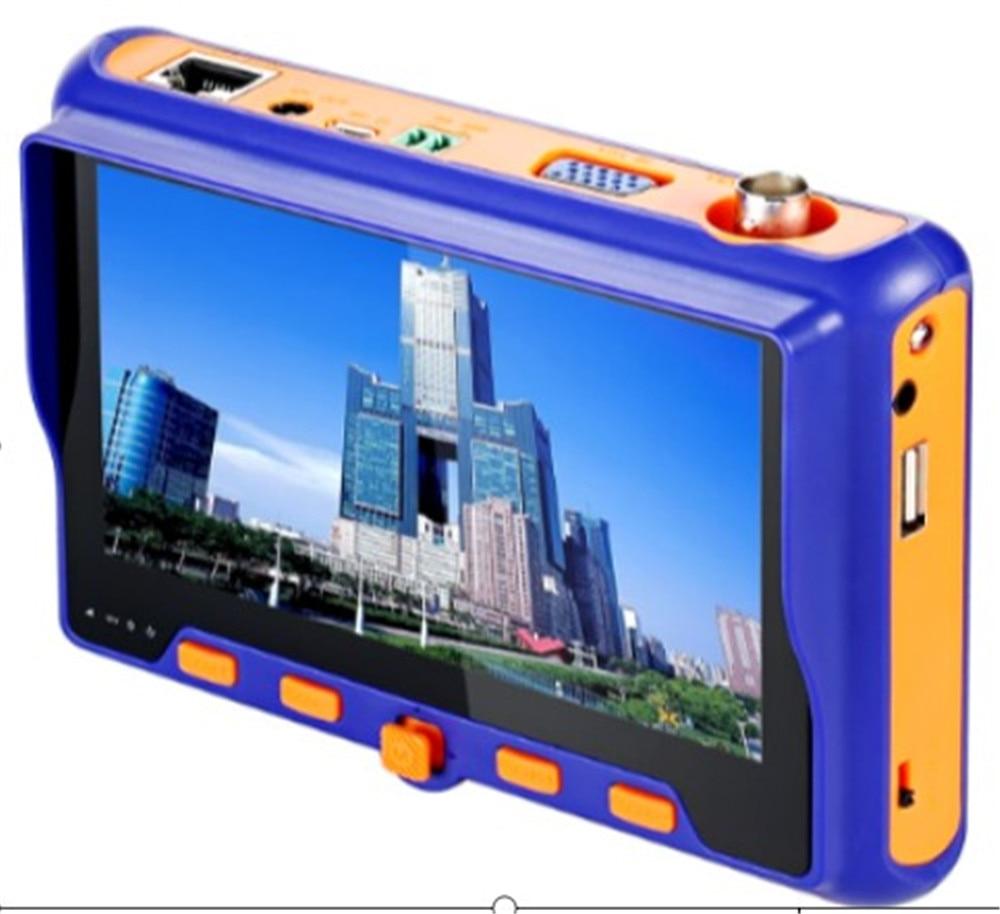"4in1 5"" Tester Monitor 2MP CCTV Camera PTZ Test TVI CVI AHD VGA CVBS Video Cable Testing Security cam HD1080P CCTV Camera Tester"