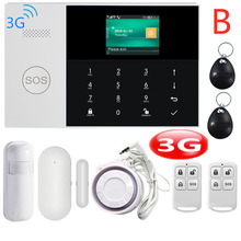 3G WIFI GSM GPRS Alarm System APP Remote Control with Color Screen 433MHz Home Burglar Security Alarm System 9 Languages Switch yobang security wifi 3g gsm alarm system wireless home security app remote control multi language switch