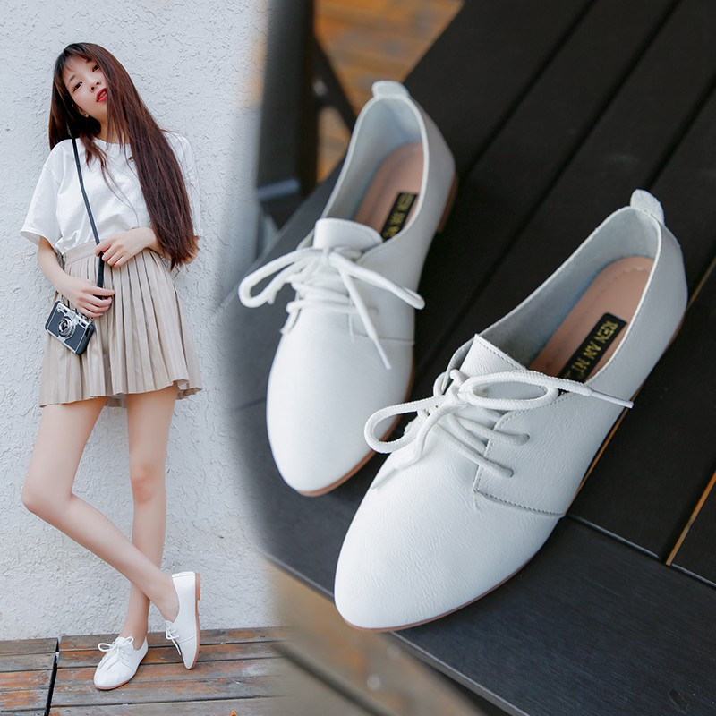 Summer Tendon Sole Women's Shoes Soft Flat Shoes Single Shoes Peas Shoes Spring and Autumn Fashion White Shoes Casual Shoes